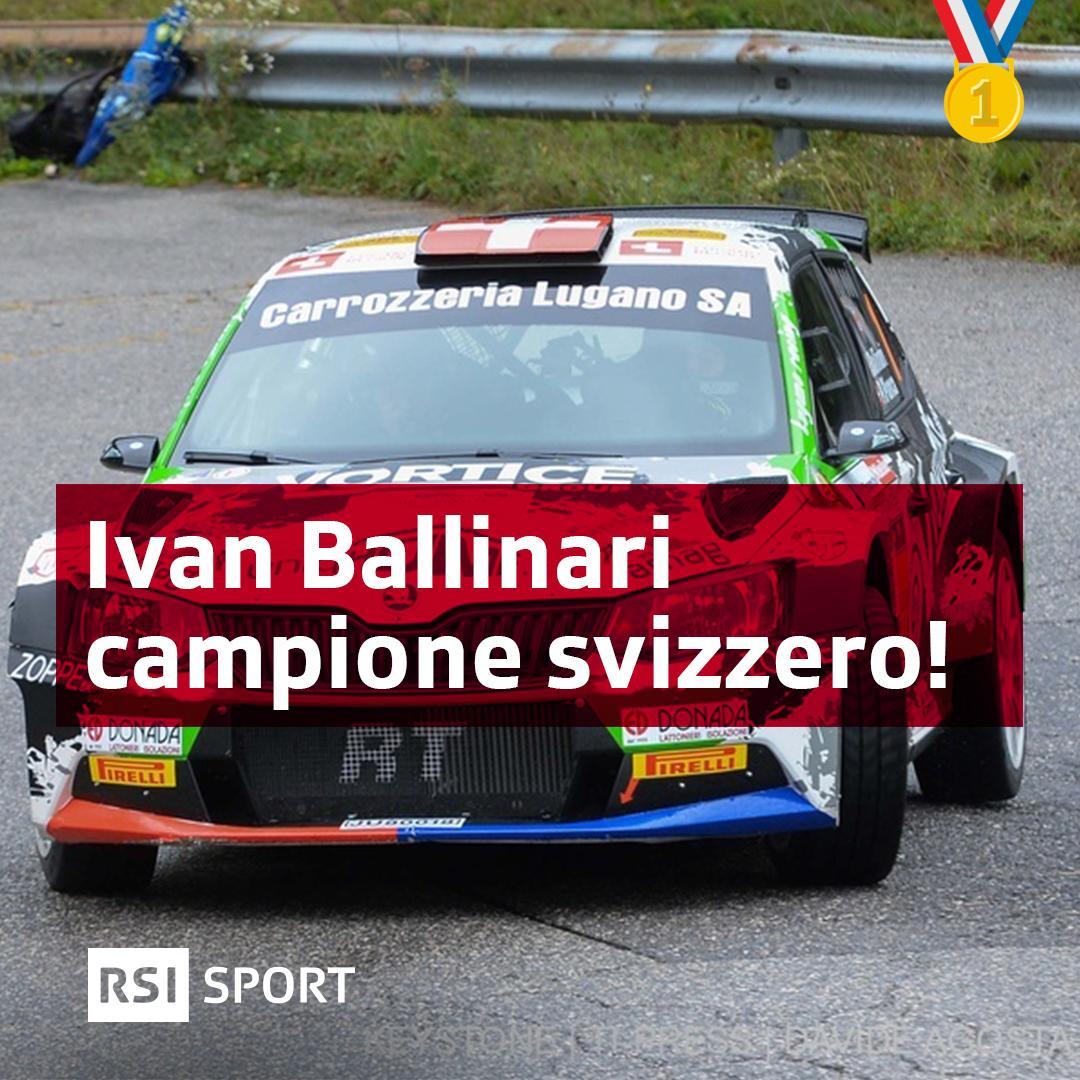🏆Il ticinese Ivan Ballinari è ancora campione svizzero di rally! #RSISport https://t.co/sW9z46XQaq https://t.co/wlglQLURMm