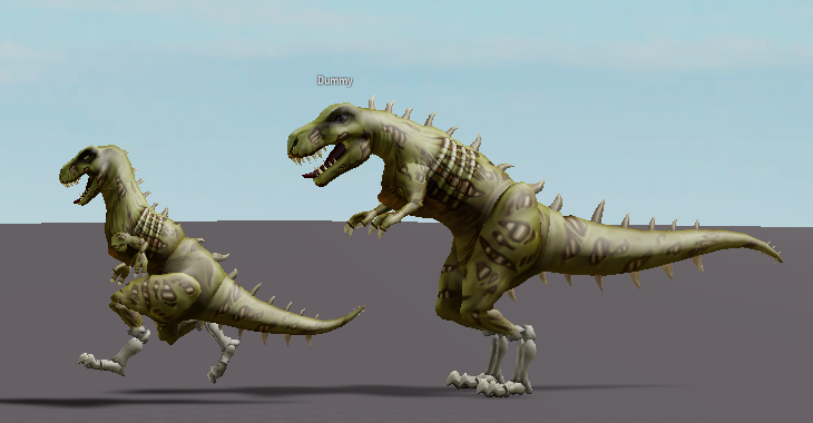 Ivy On Twitter Roblox Has Updated The T Rex Skeleton Bundle