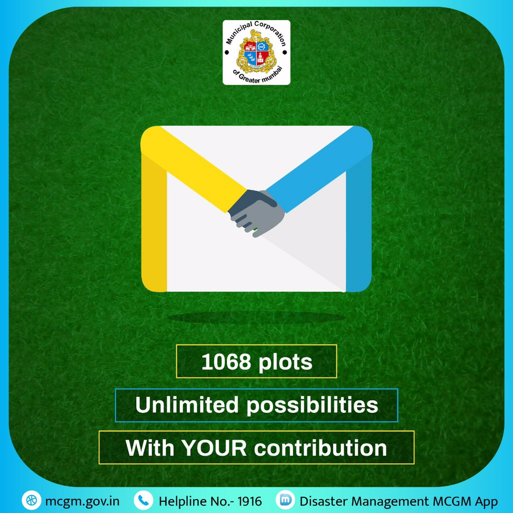 Our area of expertise, is your area of knowledge! We have 1068 areas up for improvement, and we need your advice to make them rock! Please email us your inputs by 16th Aug on jtmc.vig@mcgm.gov.in / sg.gardens@mcgm.gov.in - for a Greater Mumbai. bit.ly/2YRRqtQ