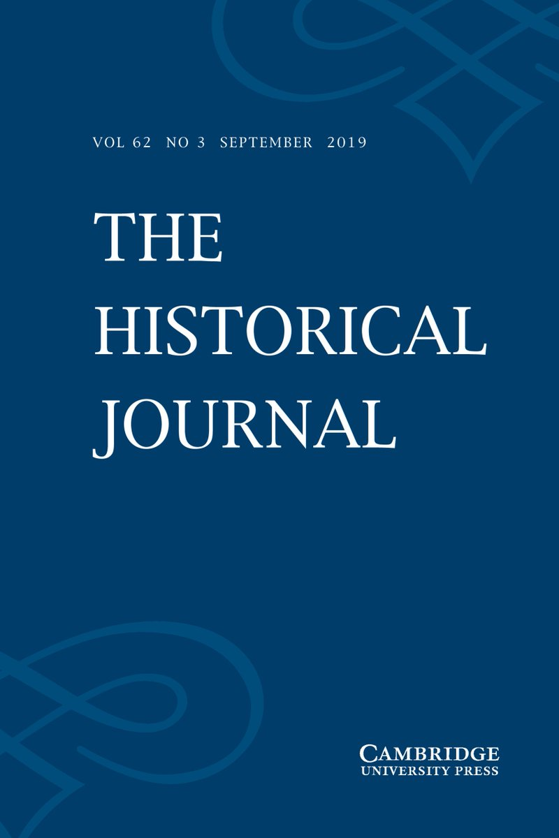 NEW ISSUE of the @HistoricalJnl is out now!  https://www. cambridge.org/core/journals/ historical-journal/latest-issue   …  #twitterstorians <br>http://pic.twitter.com/JTCDjoJIP6
