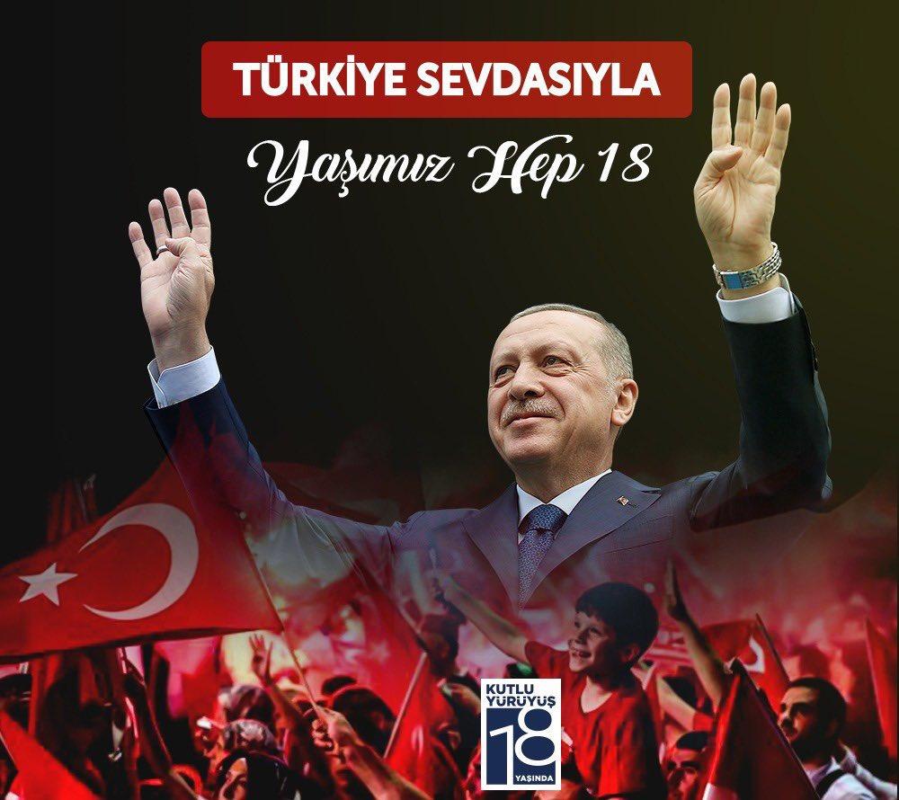 Türkiye sevdasıyla, hak ve hakikate inançla, insana saygıyla, mazluma ve mağdura kol kanat gererek daha nice yıllara... #TürkiyeAKPartiileŞahlanıyor
