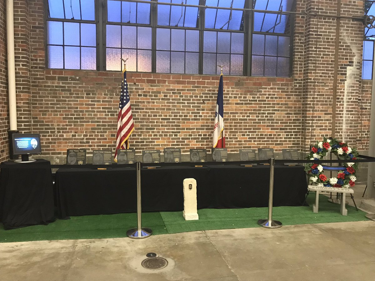 With the sad news out of Lyon Co yesterday, it's poignant to remember our 10 fallen. Come see us at the Hall of Law at the State Fair #neverforget #wehavethewatch #IowaStateFair<br>http://pic.twitter.com/E3l7R9vwTy