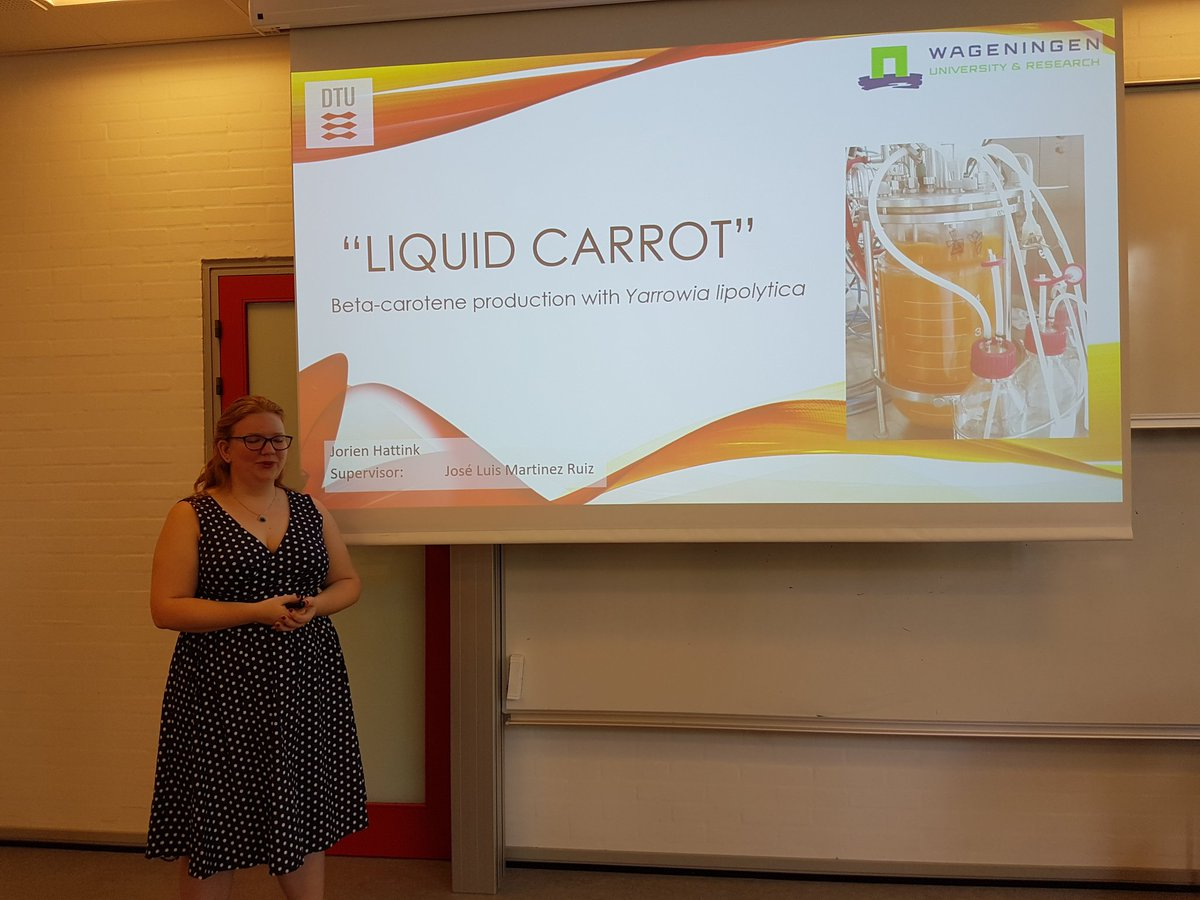 Very interesting talk by @HattinkJorien on the Liquid Carrot project today 🥕 👏 some truly great research has been going on for the past 6 months in our lab 🔬 😊