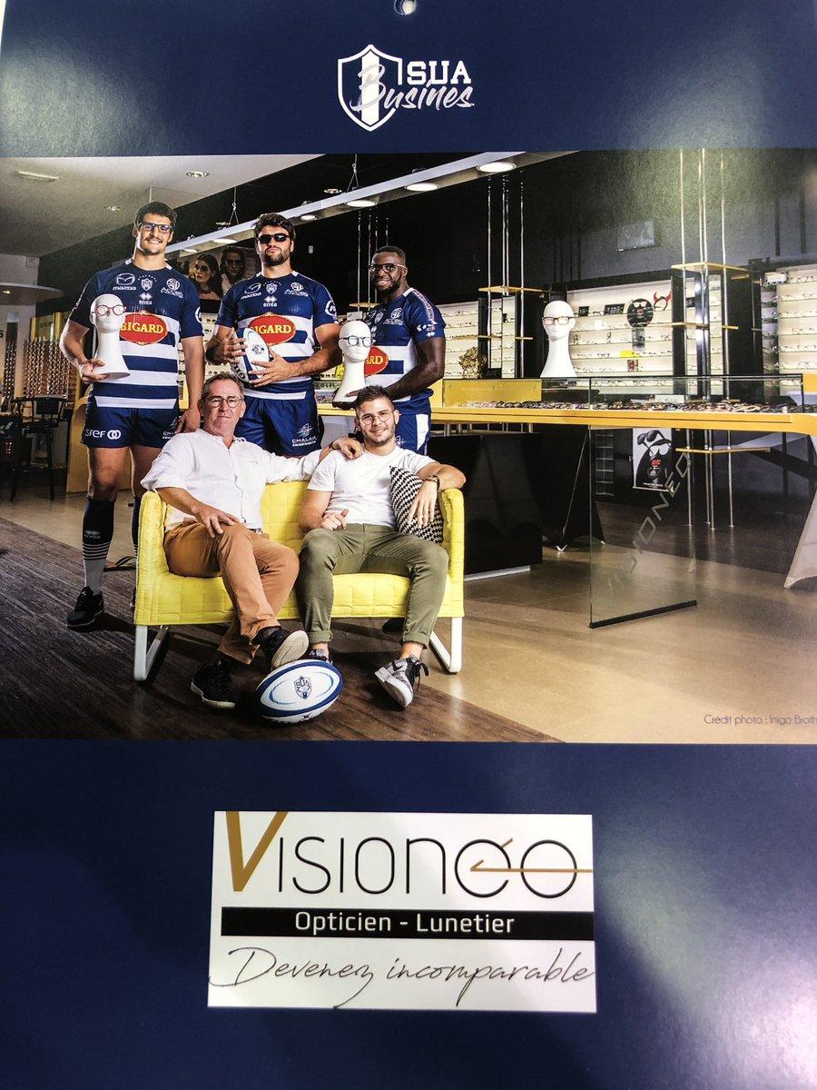 Calendrier du @agen_rugby ! 😁 Partenaire et fier de m'occuper de certains joueurs pour le développement de la performance visuelle ⚪️🔵