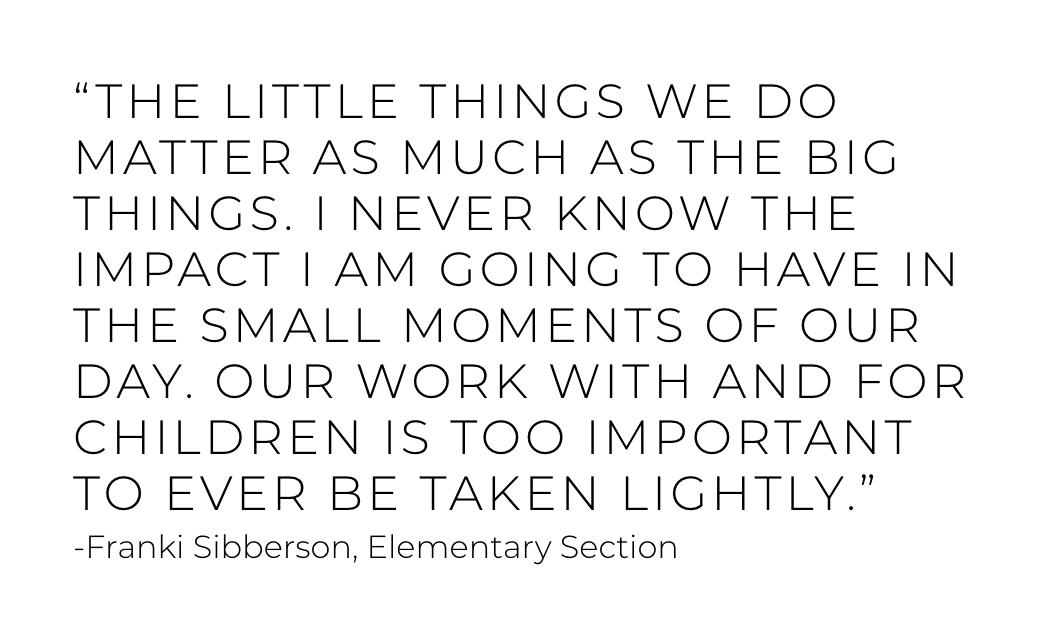 The little things matter. #WednesdayWisdom from NCTE President @frankisibberson. #NCTEvillage <br>http://pic.twitter.com/tJ6j9XntHh