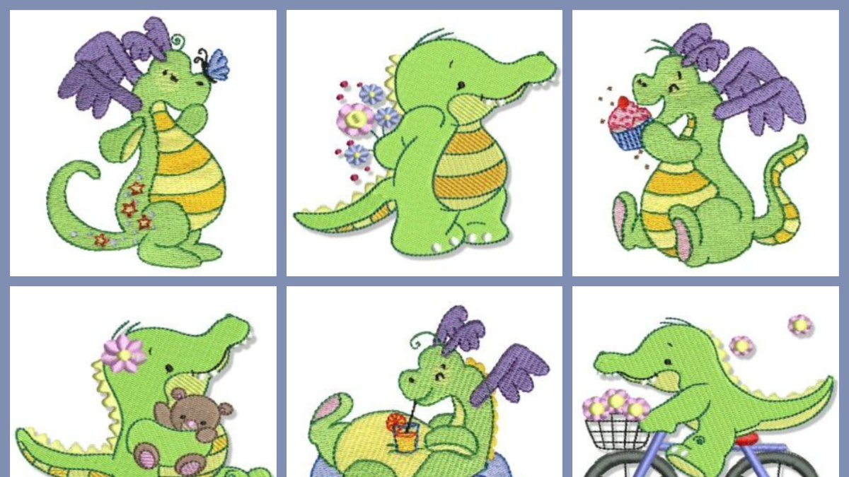 Weekly Members Specials – 2 Great Sets Just $5 Each  Our weekly members special has been updated and we have 2 adorable sets for just $5 each available – Daring Dragons and Cute Croc.  See the members specials at https://www.bunnycup.com/embroidery-weekly-design-set …  #embroidery #bunnycup #bunnycupembroidery