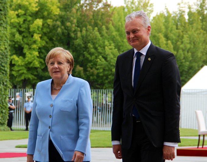 BK Merkel empfängt den litauischen Präsidenten Gitan