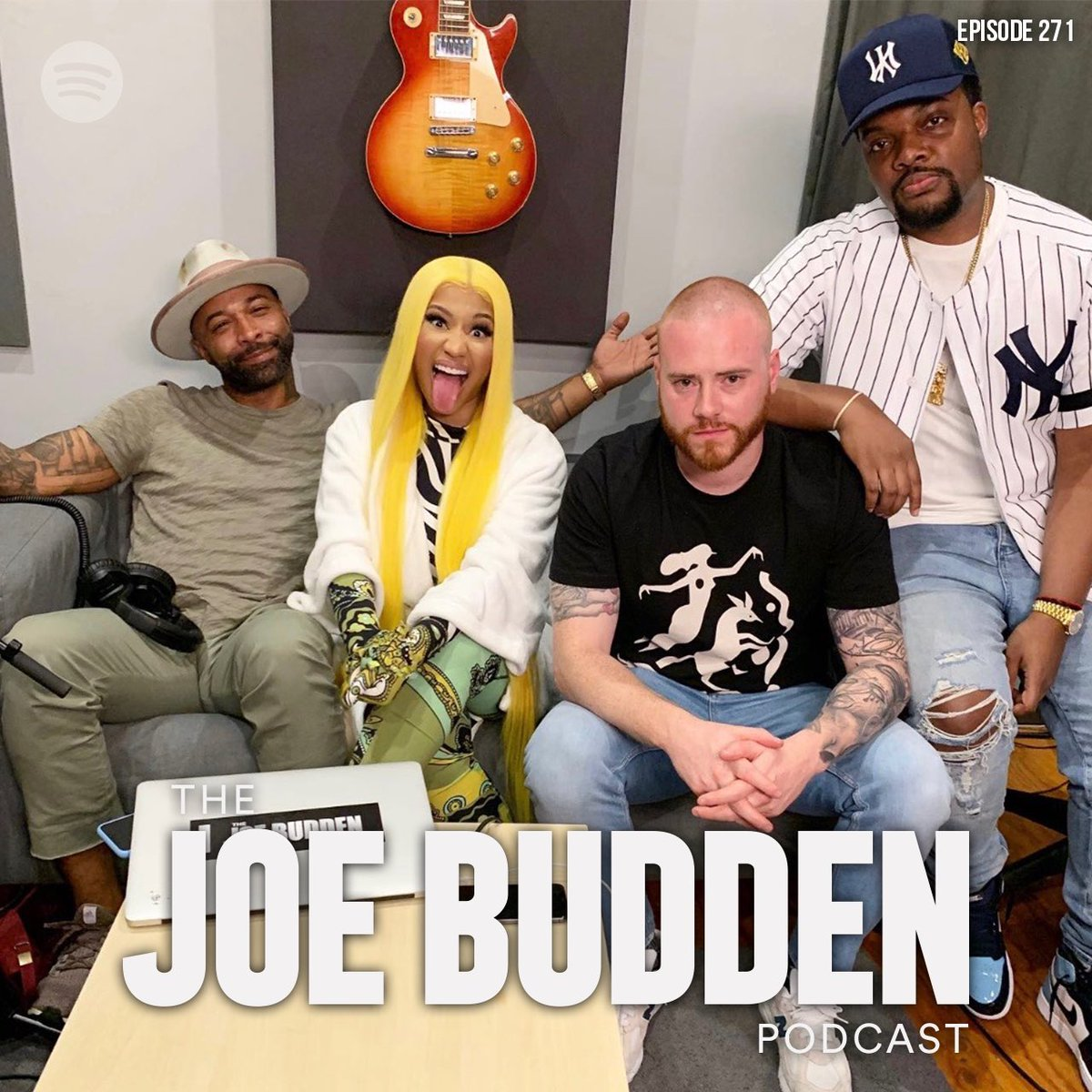 """The @JoeBudden Podcast Episode 271 """"Case Study"""" Feat. @NICKIMINAJ is available now! Stream exclusively on @Spotify LISTEN HERE 🎧: open.spotify.com/episode/1zwZNN…"""