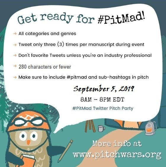 Get your pitches ready! The next #PitMad Twitter pitch party hosted by @PitchWars is coming! #WritingCommnunity #amwriting #amediting #amquerying   Need to know how to Twitter pitch? You can find all the info. here:  https:// pitchwars.org/pitmad/    <br>http://pic.twitter.com/Ekj8hh9YAP