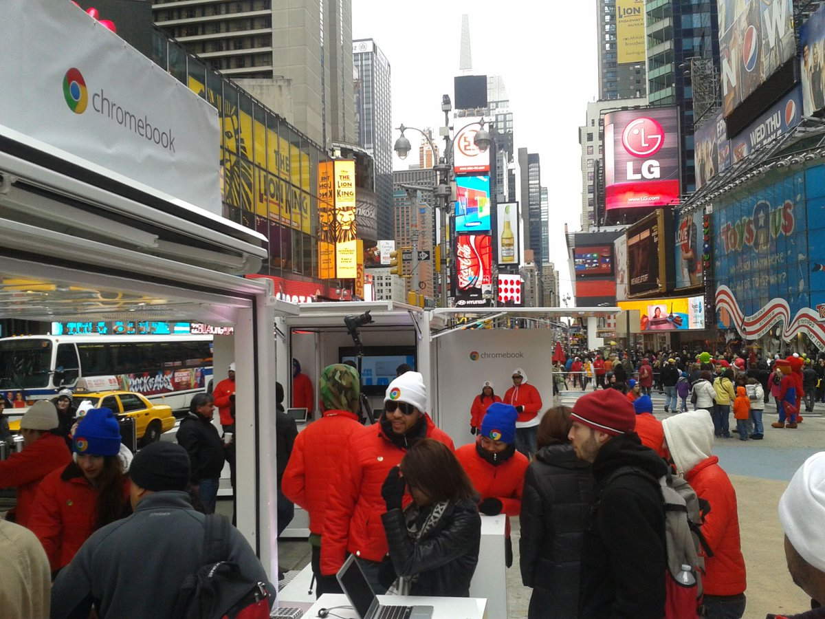 When Google was looking to interact with potential clients regarding their line of Chromebooks, they activated Steel Space Concepts units in the heart of NYC. Customer interaction at it's best!    http:// STEELSPACECONCEPTS.COM      #experientialmarketing #experiential<br>http://pic.twitter.com/VlK1HijU94