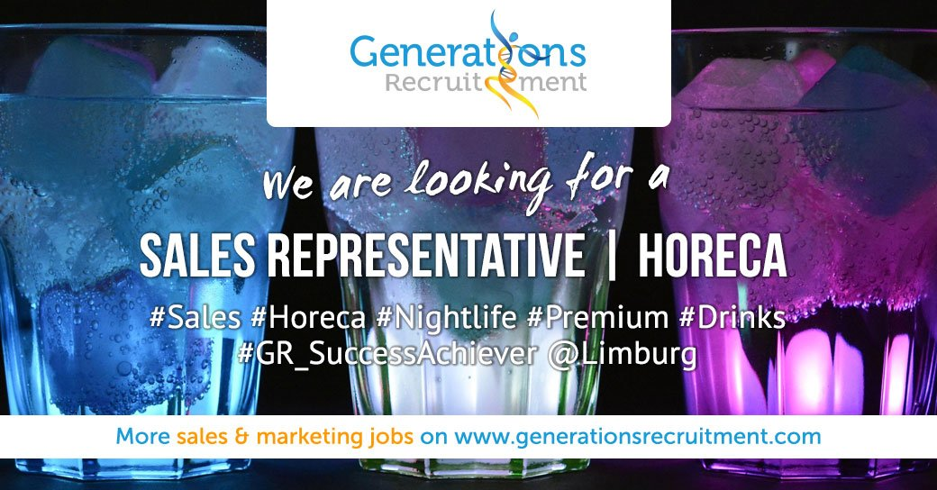 We are looking for a SALES REPRESENTATIVE   HORECA Apply Now! http://bit.ly/2G3hqYe   #sales #jobs #horeca #vacancy #drinks #salesjobs #salesrepresentative #hiring #recruiting #career #newjob #jobopportunity #generationsrecruitment #gr_successachiever #limburg #hasseltpic.twitter.com/7m1p1HNo6K