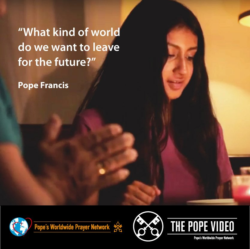 Let us leave the best possible legacy to our children, as @Pontifex tells us. Let us leave them a world with families. #Families #ThePopeVideo