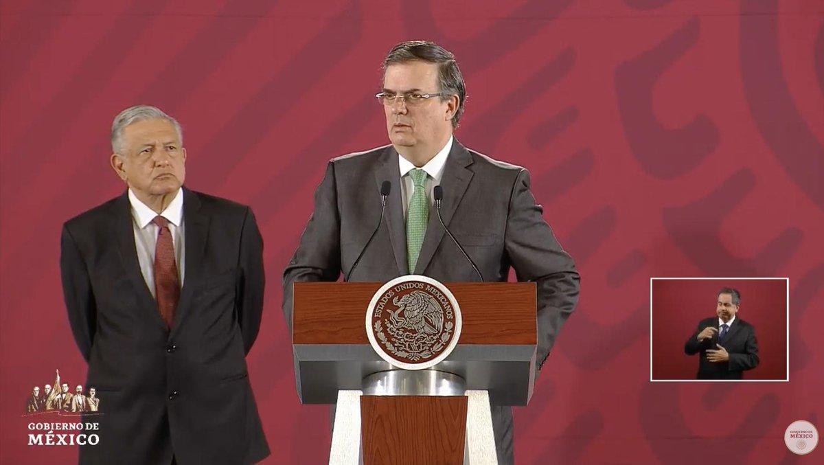 Ebrard confirma llamada con el secretario de Estado estadounidense, Mike Pompeo, quien le manifestó condolencias y apoyo tras el tiroteo en El Paso, Texas.  EN VIVO: http://bit.ly/2MYbrZj