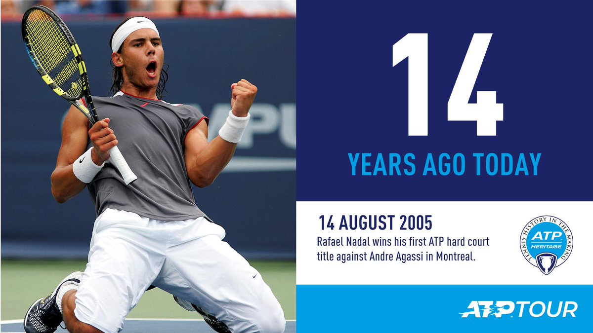 #OnThisDay in 2005...  @RafaelNadal won his first of five titles in Canada! <br>http://pic.twitter.com/4RDxnhNCPm