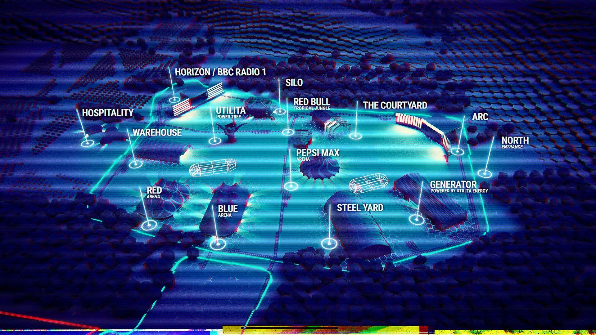 Creamfields 2019 map