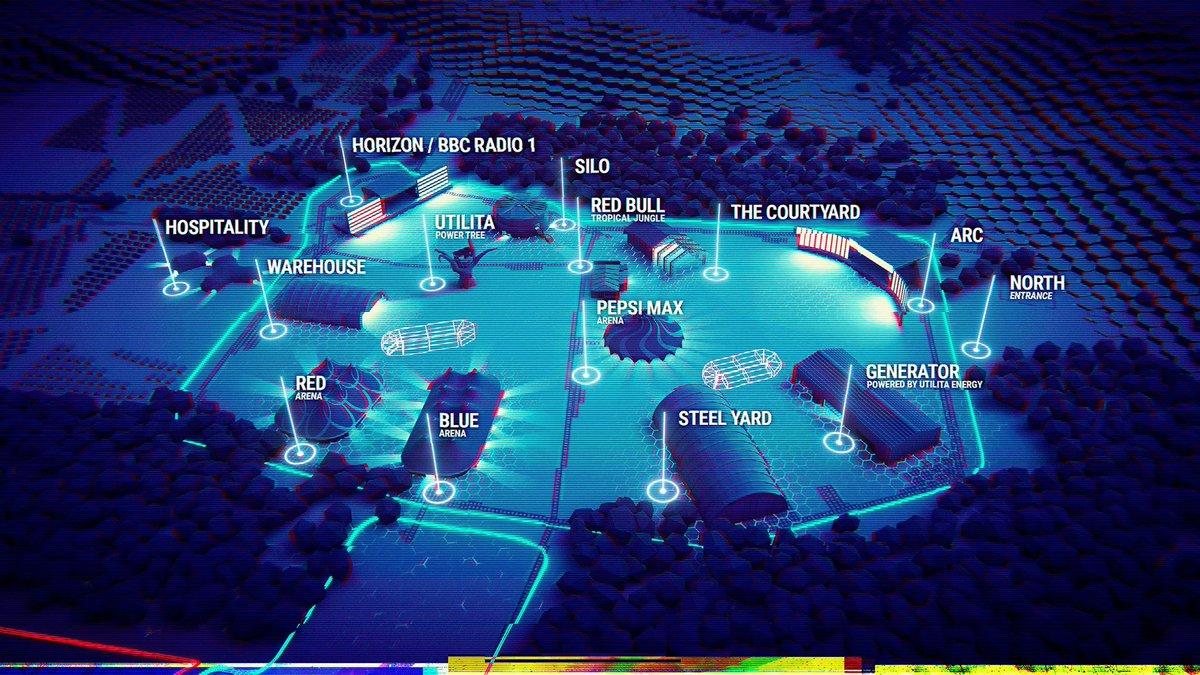 2021 Creamfields map