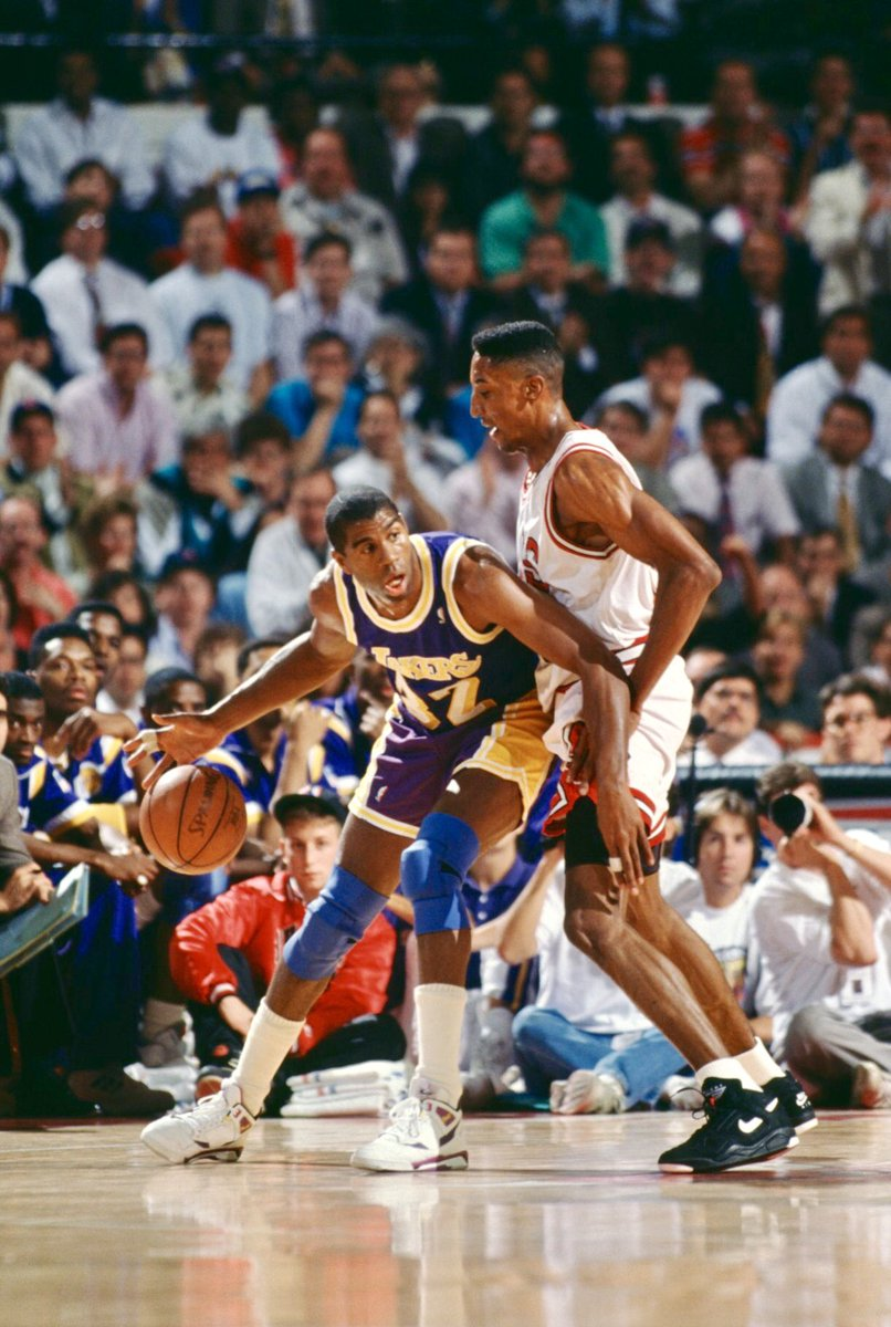 Happy 60th birthday to the great @MagicJohnson. As someone I looked up to as I learned the game, it was an honor to compete against him, a privilege to be his teammate, and now, a blessing to call him a friend.