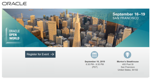 At #OOW19 we'll celebrate @OraclePartners at the official @OracleLinux & #Virtualization Partner Forum and Awards Dinner 2019! @fjtorres @ksigman #emeapartners @Oracleemeaps @Oracledevs @OracleACE Register here  http:// bit.ly/2KNKk08    <br>http://pic.twitter.com/L2RMQSQgnP
