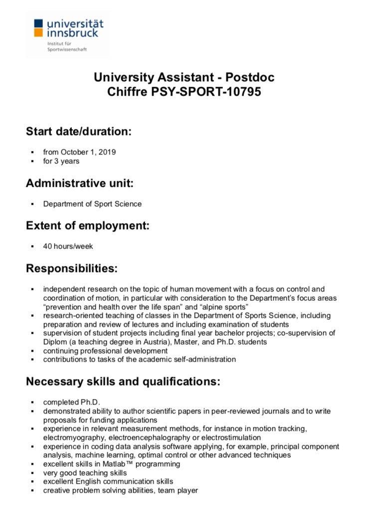 Jobs in Sport Science (@JobsinSportSci)   Twitter