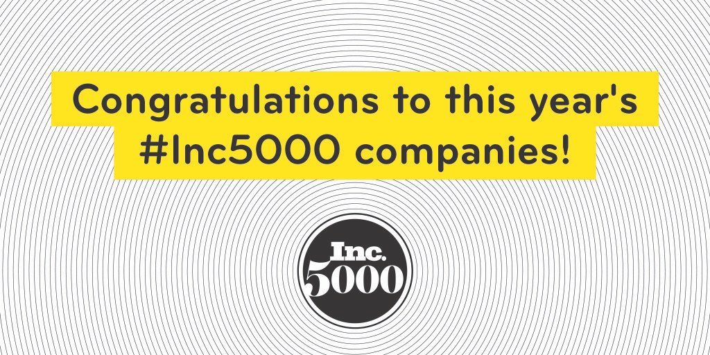 Huge congratulations to the 2019 #Inc5000! Check out the complete list of America's fastest-growing private companies and get inspired:  https://www. inc.com/inc5000/2019/t op-private-companies-2019-inc5000.html  … <br>http://pic.twitter.com/I4ihx4ikL8