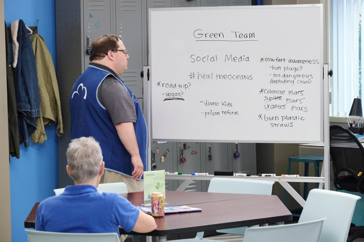"""Tag yourself, we're """"social media"""" (duh). #Superstore"""