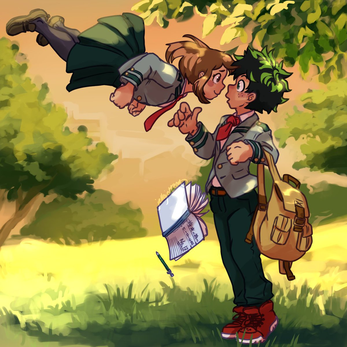 Do you promise to look after her?  #MyHeroAcademia #Izuocha <br>http://pic.twitter.com/nSZF8FTxQA