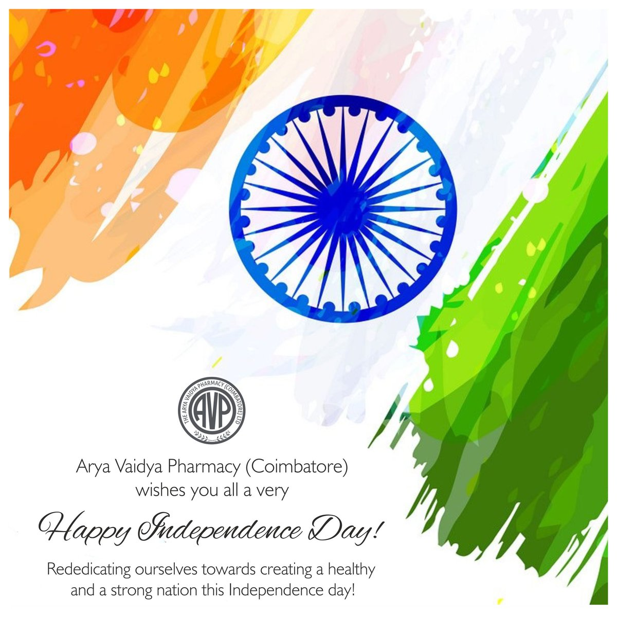 Happy Independence Day from all of us at AVP! We take this opportunity to rededicate ourselves in creating a healthy and a strong nation... #IndependenceDay2019 ceday2019 #IndependenceDayIndia #JaiHind