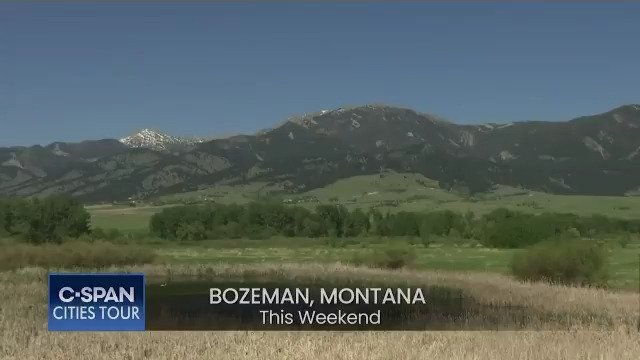 This WKND travel to #Bozeman, #MT! Special programming blocks feature the citys literary programs on C-SPAN2 @booktv, Sat. @6pm ET & #localhistory on C-SPAN3 @cspanhistory, Sun. @2pm ET. Thanks to our @CharterGov partners, @CyndyAndrus & @CityofBozeman. @onlyinbozeman @ABCFOXMT