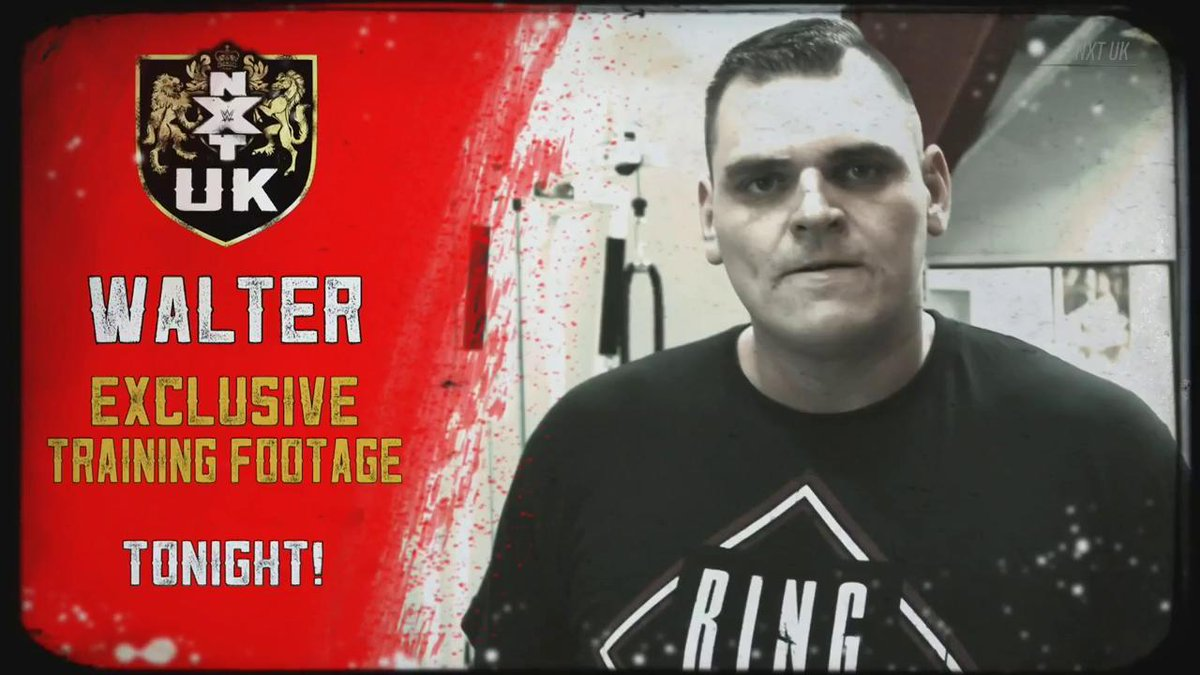 .@WalterAUT isn't messing around heading into #NXTUKTakeOver: Cardiff.We see the #UKChampion's workout regime TODAY! #NXTUK