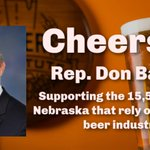 Image for the Tweet beginning: Thanks @RepDonBacon for sponsoring the