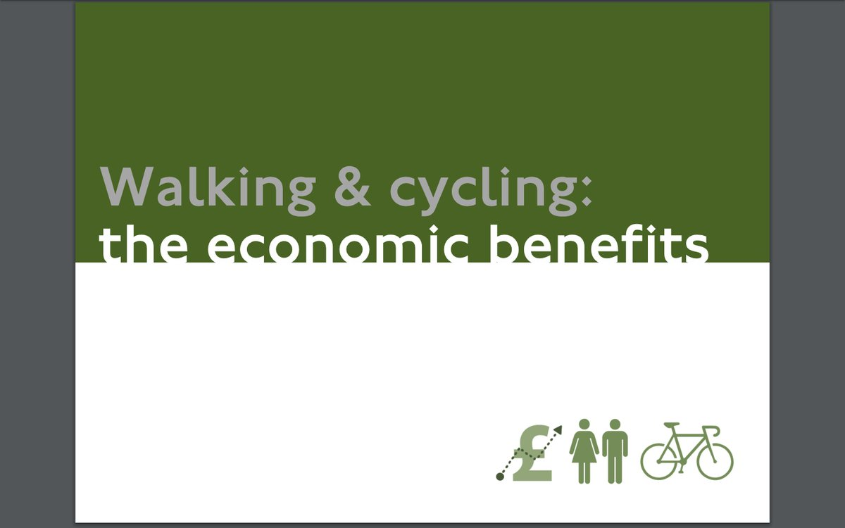 Ok this pdf is exceptional.... TfL have outdone themselves here. content.tfl.gov.uk/walking-cyclin… 29 pages of pure WHY WOULD YOU NOT INVEST IN CYCLING?!!!