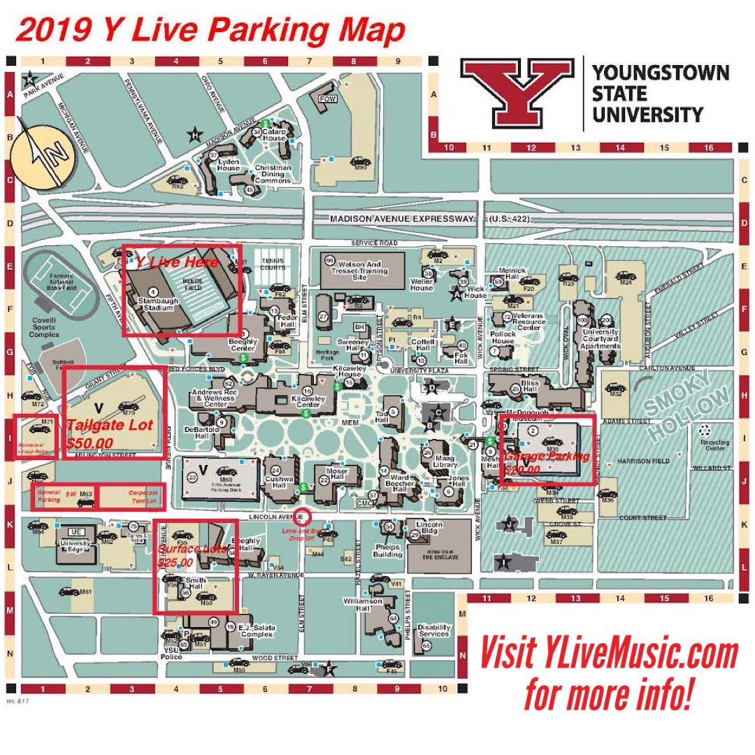 Y Live (@YLive2019) | Twitter Ysu Campus Map M Tailgate on