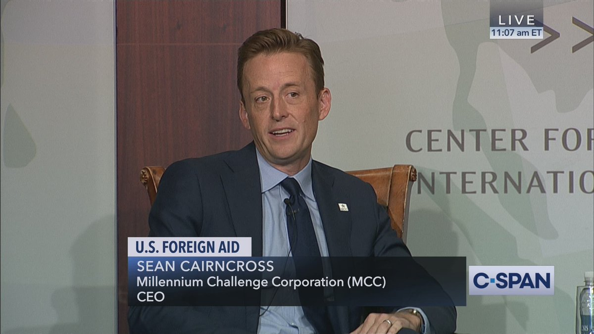 Millennium Challenge Corporation CEO Sean Cairncross (@MCCgov @mcc_ceo) discusses future of agency and U.S. foreign aid, @CSIS hosts – LIVE on C-SPAN cs.pn/2H4xgCy