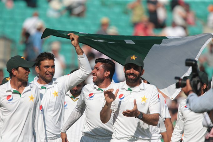 #OnThisDay in 2016 - Pakistan won the Oval Test to clinch a series draw in England.#IndependenceDay