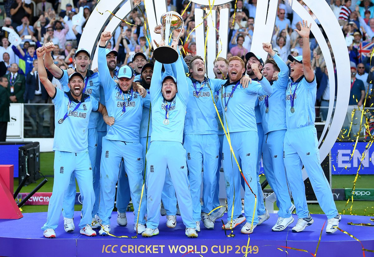 #OnThisDay one month ago... England became world champions at #CWC19! 🏆