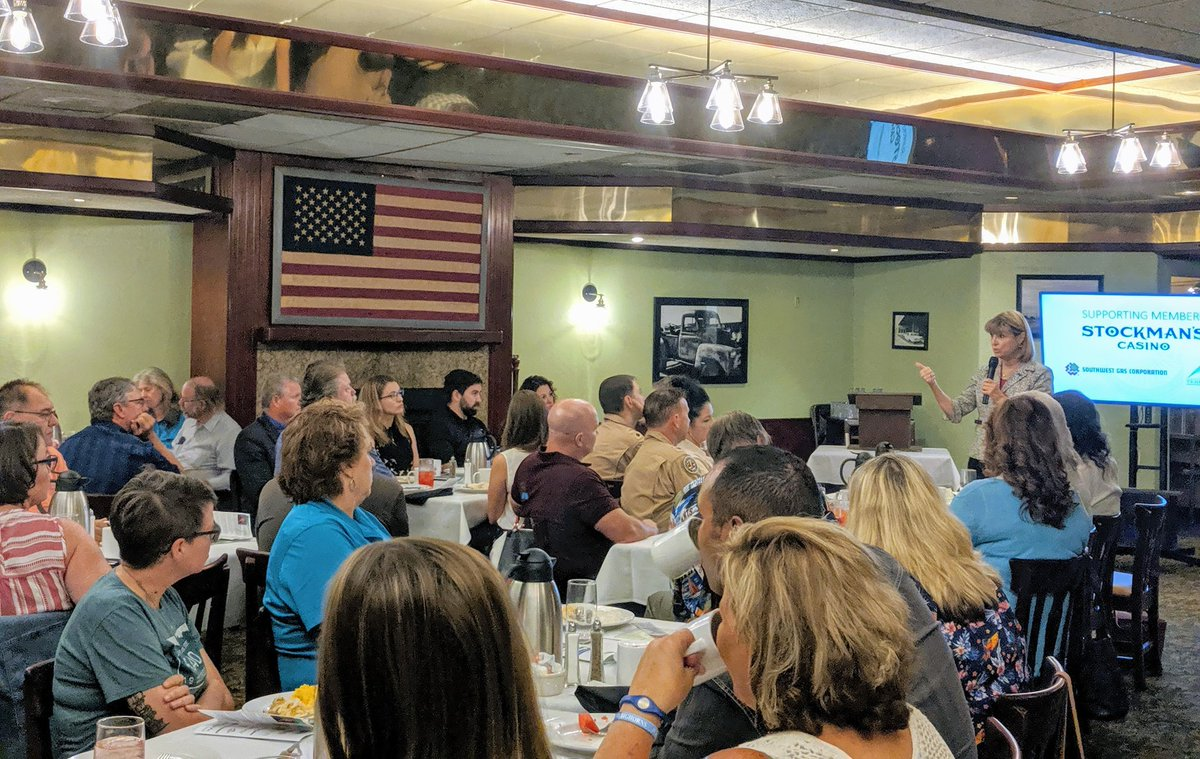 I'm back in Fallon this morning at the Churchill Economic Development Authority breakfast. Always a great time in the Oasis of Nevada! #NVLG