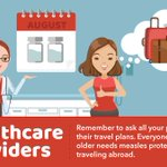 Image for the Tweet beginning: Each year, unvaccinated travelers get