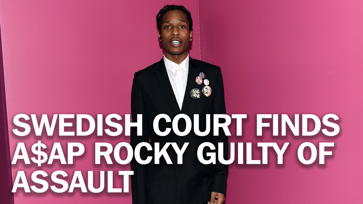 A Swedish court has found A$AP Rocky guilty of assault for his role in a June 30 street brawl http://mag.time.com/Ibmq3UI