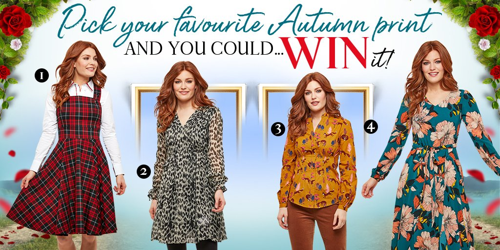 It's competition time!   Simply RT, like this post and pick your favourite autumn print numbered 1-4 below and you could #WIN it!  T&C's apply - Good luck!  #lovejoebrowns #joebrowns #giveaway #win #competition #prize #competitiontime #autumnwinter #prints<br>http://pic.twitter.com/6C5J6VtFbA