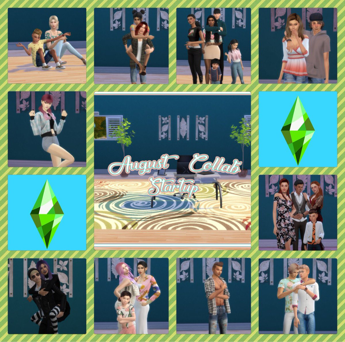 Hi!!! Letting everyone know that my August Collab has started! Build: Any lot size, no cc, any pack, no limit on how many can join, & 10 unique scenarios! If you would like to join let me know! If think there is someone who might be interested share this!   https:// youtu.be/uVZ_QsGi9mw     <br>http://pic.twitter.com/QSzSCHc9Kp