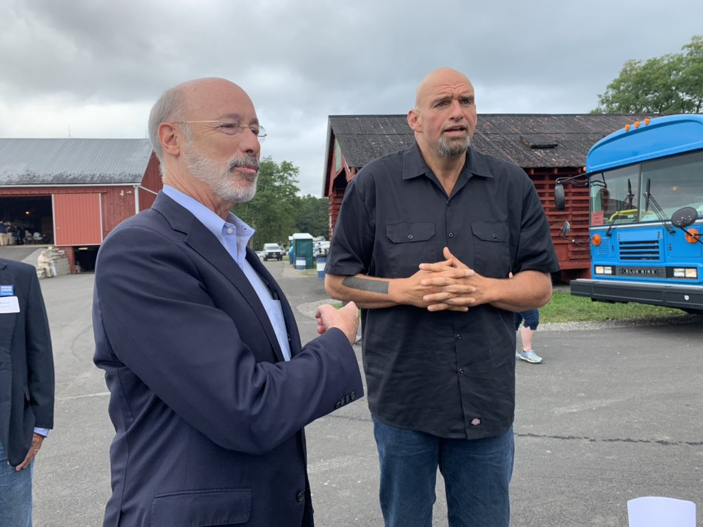 It's #agprogressdays and @GovernorTomWolf & @JohnFetterman are here for govt. lunch