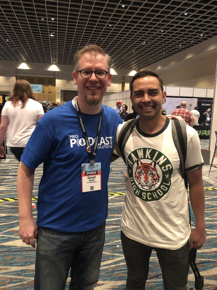 Podcast legend @PatFlynn gave some love to #StrangerThings during his keynote at #PodcastMovement this morning. #PM19