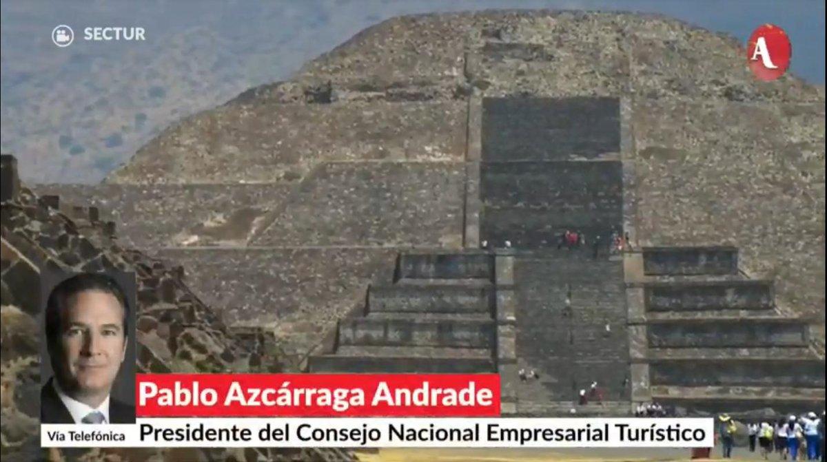 Pablo Azcárraga, Presidente del Consejo Nacional Empresarial Turístico, comenta sobre la caída del 0.8% de la actividad turística en el primer trimestre de 2019,  en #AristeguiEnVivo 👉http://ow.ly/zNkw30plNXG