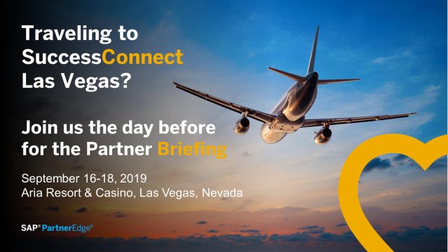 Attending SuccessConnect? Add the #SAPPartner Briefing on Monday, September 16 from 2:30 to 5:30 pm — it's your ideal prelude to your #SuccessConnect experience. Hear from SAP leaders around Next-Gen Partnering and how to drive the #HumanRevolution.  http:// bit.ly/2KPszxF    <br>http://pic.twitter.com/kvIJtFimRk