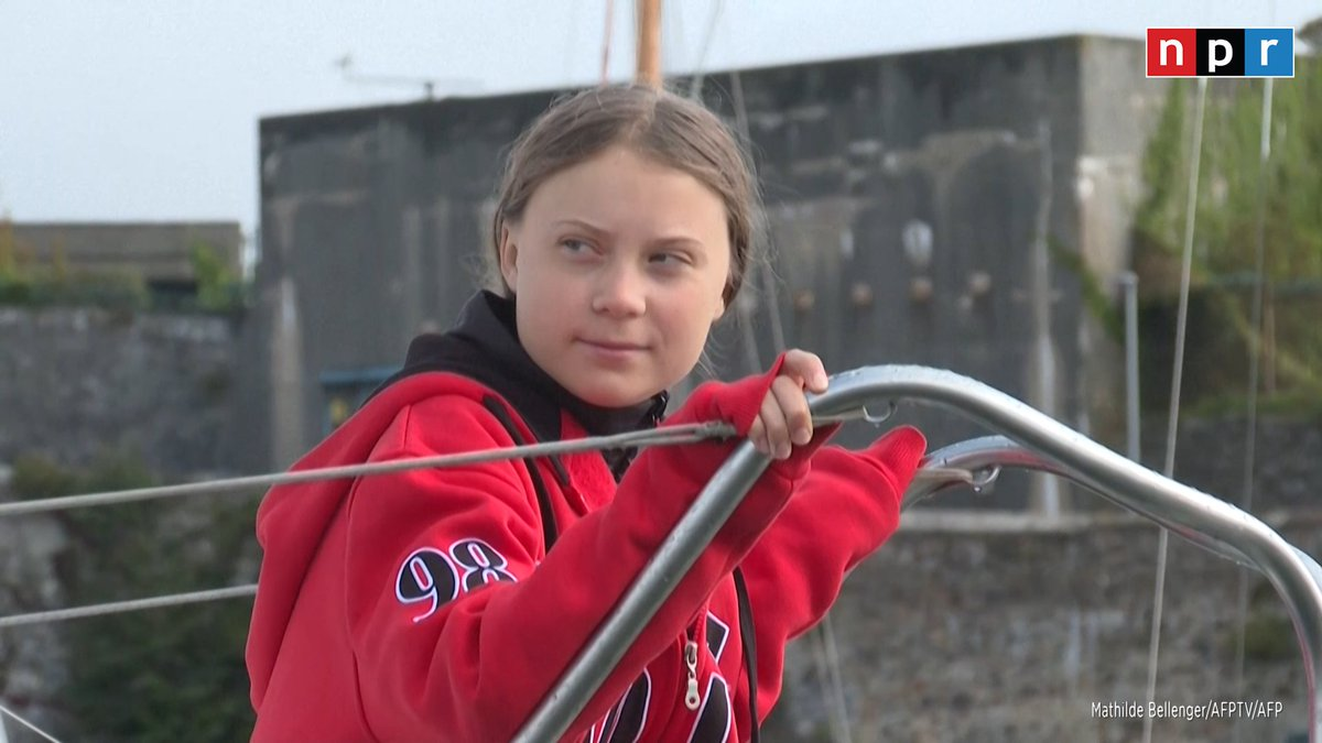 Greta Thunberg, the 16-year-old climate activist who inspired school walkouts across the world, has stopped flying because of the carbon jets emit.Instead, she's sailing to the U.S. from the U.K on a zero-emissions vessel.