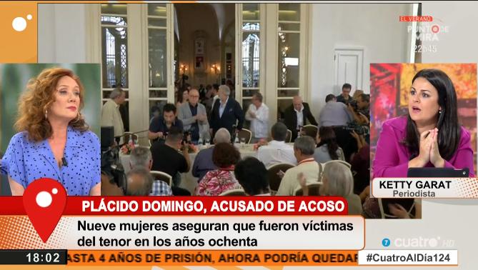 Señor Plácido Domingo, en los 80 los valores eran los mismos y los abusos igual de deleznables. Si habla de que los parámetros han cambiado, es que algo admite, sentencia @LaFallaras sobre el tenor. #CuatroAlDía124 mdia.st/directo4