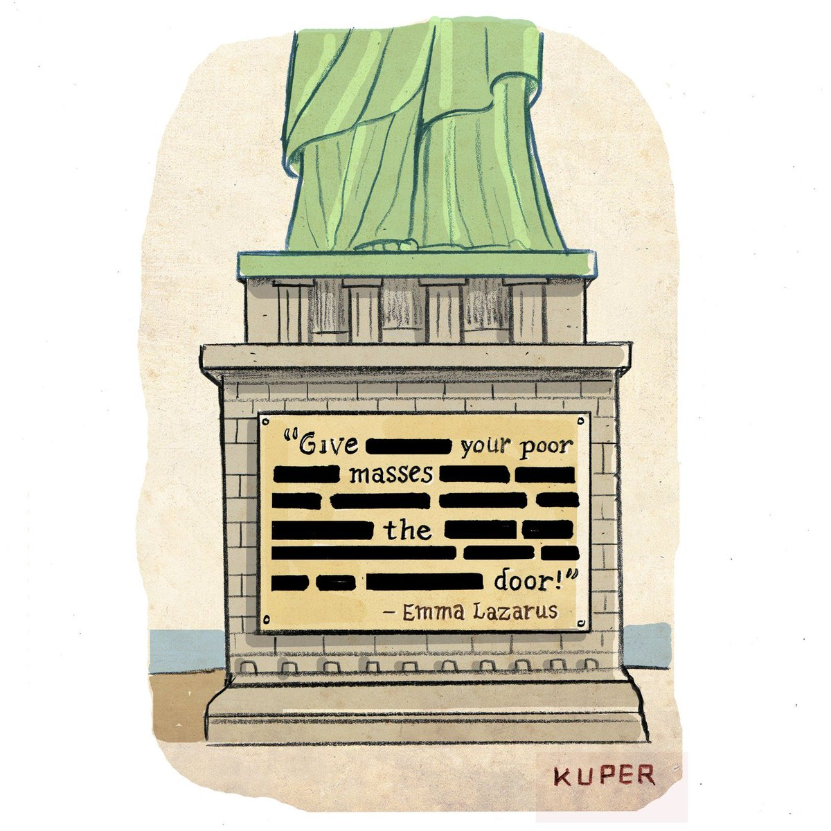 An updated poem for the Statue of Liberty. <br>http://pic.twitter.com/YQaBLgGd1T