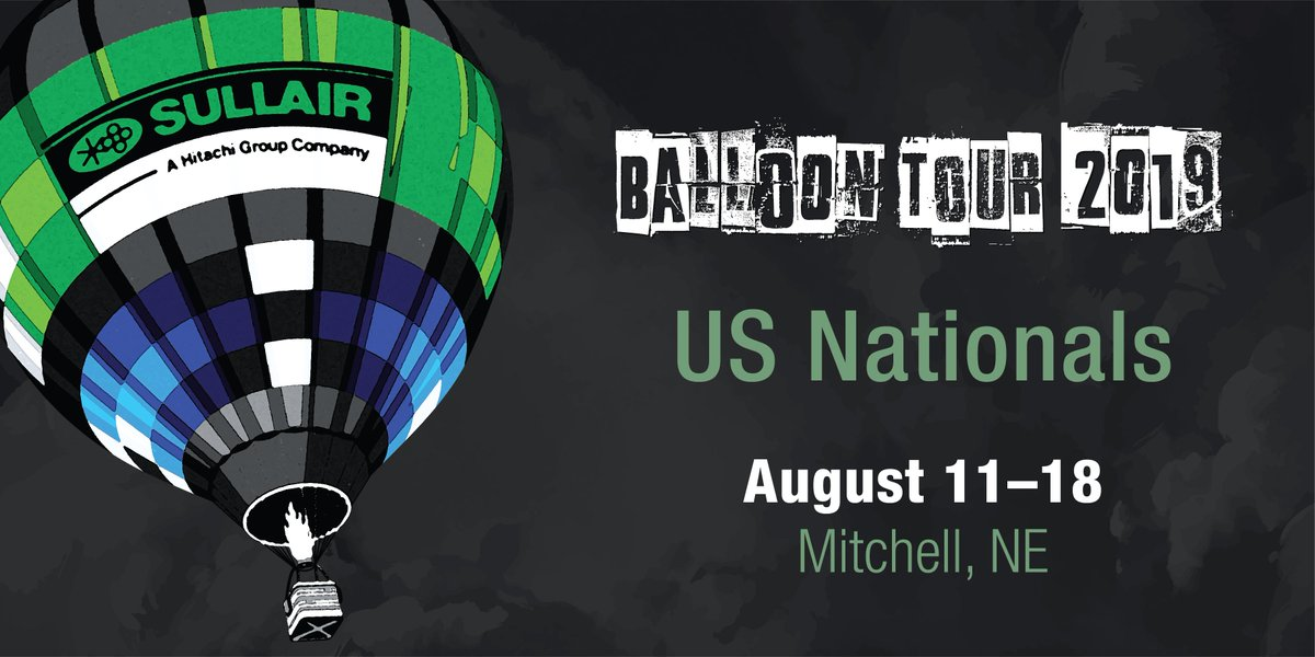 Competition continues for our #SullairInTheAir balloon team at @BFAballooning US Nationals. The hot air balloon crew is in Mitchell, Nebraska with the last competitive flight on Saturday, August 17th. Balloon Tour 2019 helpful links: bit.ly/2OPZIye