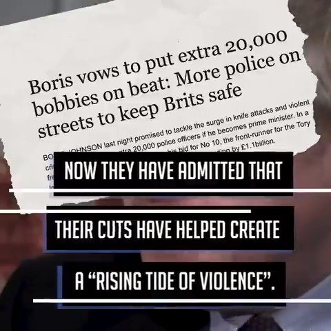 For nine years we told the Tories that their police funding cuts were leaving communities exposed. Now they finally admit that their cuts have helped create a rising tide of violence. Share the facts.