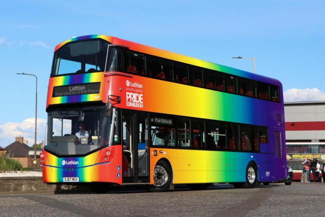 Send him to Edinburgh. They do rainbow properly here.